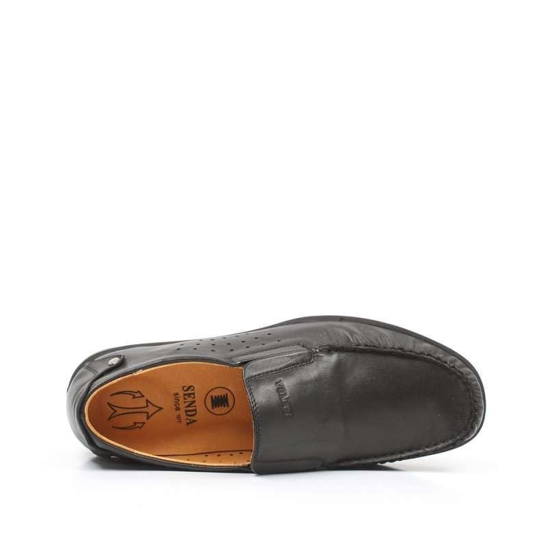 senda 森达2012夏季黑软牛皮男单鞋2is99d 42高清实拍图
