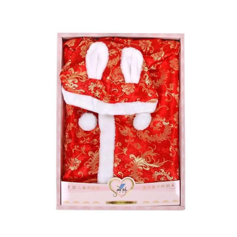 宝艺婴儿带帽加厚斗篷披风1819红色/均码高清实拍图