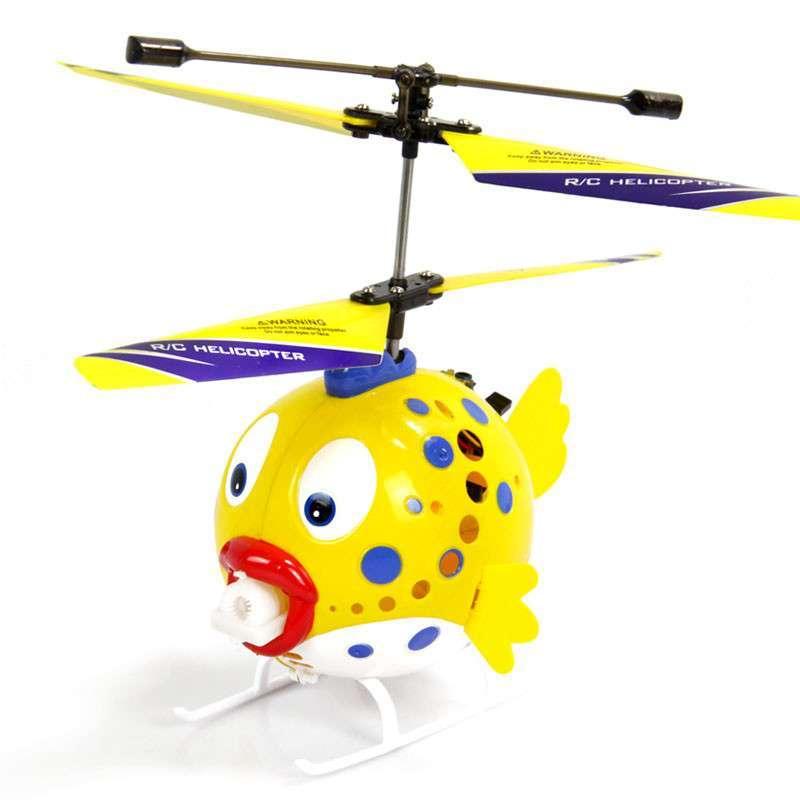 新泰阳玩具旗舰店  愤怒小鸟儿童无线遥控飞机 吹泡泡卡通.