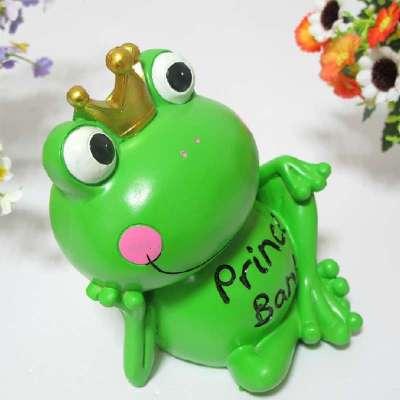 田园树脂工艺品青蛙小摆件