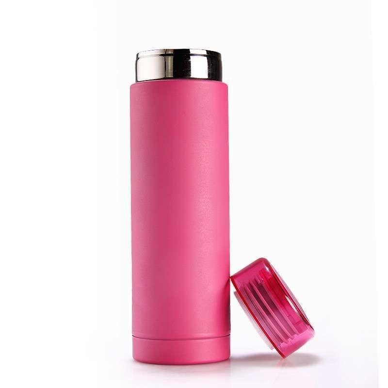 天喜 保温杯 女士 可爱不锈钢学生水杯 真空保温保冷水杯 糖果杯 粉红