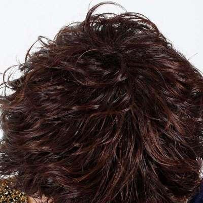 玫瑰雨珍珠名媛清爽者哩小碎卷假发短发 女士假发图片