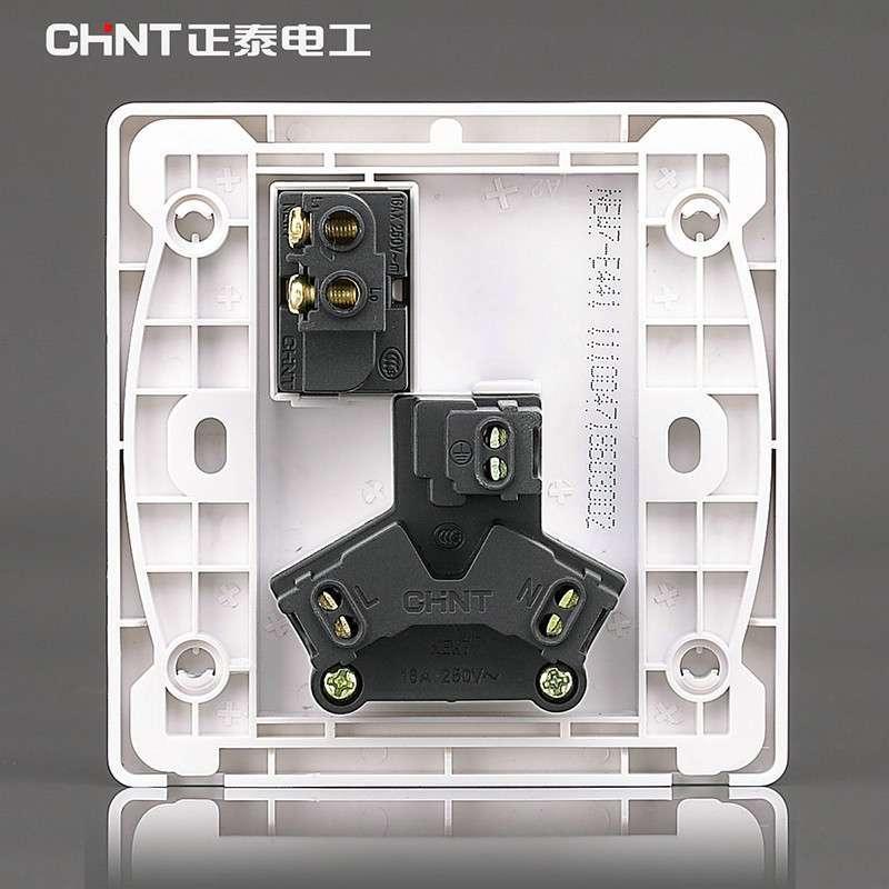 正泰16a三孔插座接线示意图