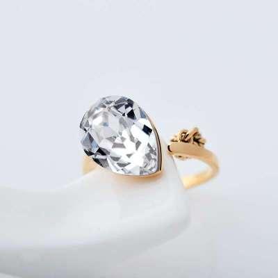 mbox戒指 女 韩版时尚水晶饰品 迷你可爱小动物心有所