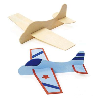 diy手工制作彩绘玩具手绘飞机白模上色