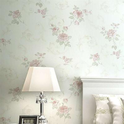 纸尚美墙纸 无纺布欧式田园碎花小清新温馨卧室背景墙壁纸 包邮