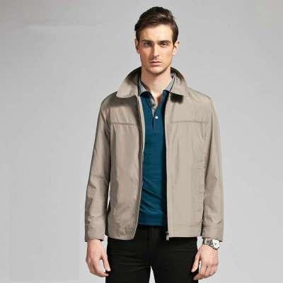 杉杉女装春装_杉杉正品2014春装新品 青年商务jacket 男士翻领夹克外套j32304 藏青