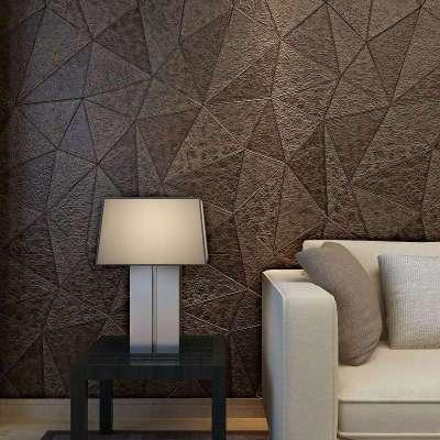 现代简约客厅高档电视墙背景墙纸个性欧式红色软包皮