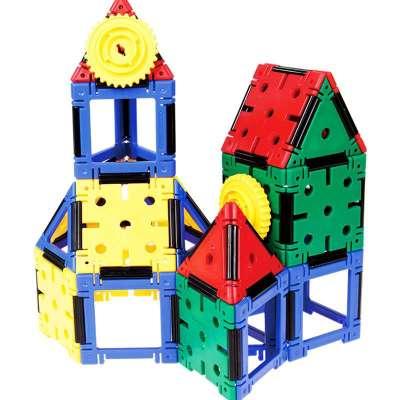 大圣正品结构大师建筑组合儿童益智拼搭玩具拼插积木独家自营进口材质