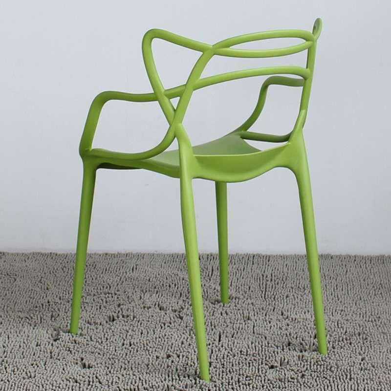 霍客森自然镂空藤蔓椅 创意休闲椅 时尚简约餐椅 造型椅子丝带椅 绿色