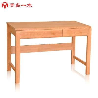 1米电脑桌写字台办公桌纯实木