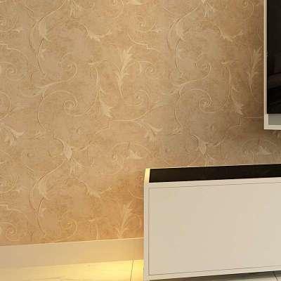 多美正温馨欧式客厅卧室电视无纺布墙纸素色背景墙ak