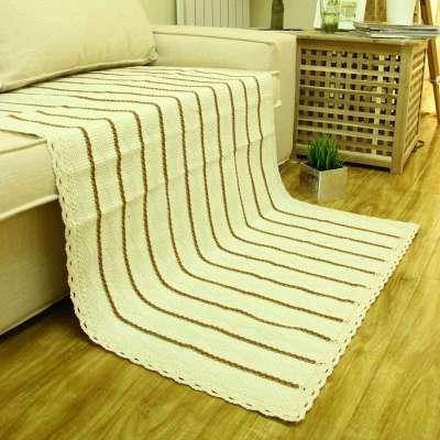 钩针编织长方形坐垫图片