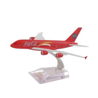 天雅艺品 16cm小合金飞机模型(儿童玩具)------a380 可口可乐彩绘1