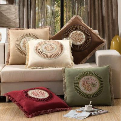 沙发抱枕 靠垫 欧式高档布艺靠枕靠背