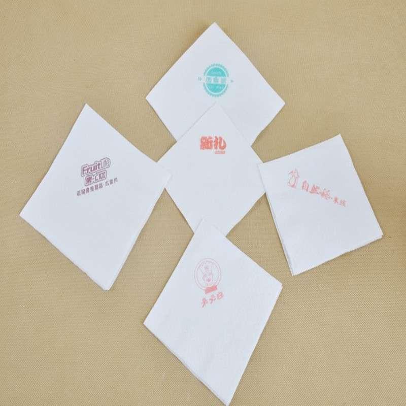 正方形印花餐巾纸印字散装抽纸定做方巾纸巾酒店用纸