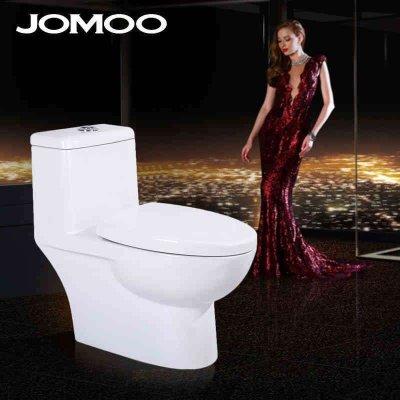 jomoo九牧马桶静音连体抽水坐便器喷射虹吸式节水