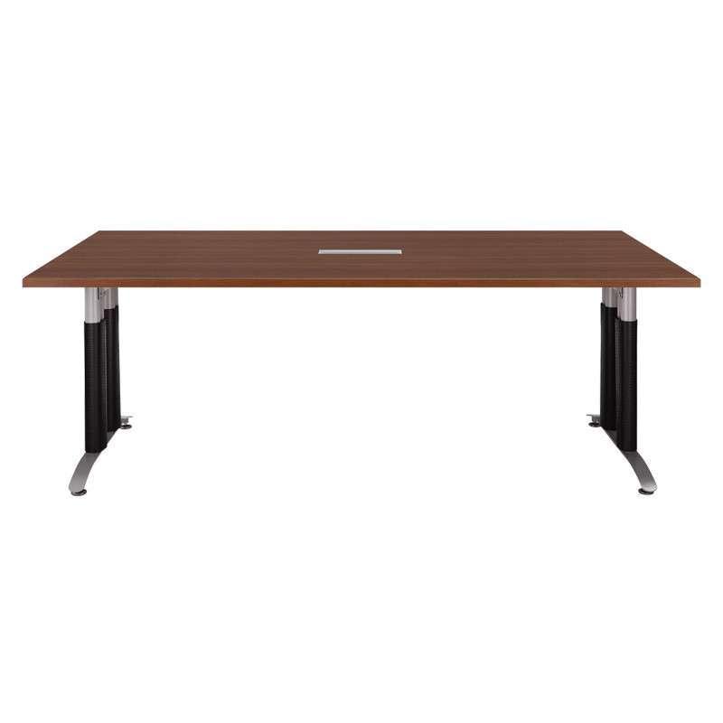 恩茂家具 上海板式 方形木质会议桌 简约时尚2000*1000*740mm 柚木色