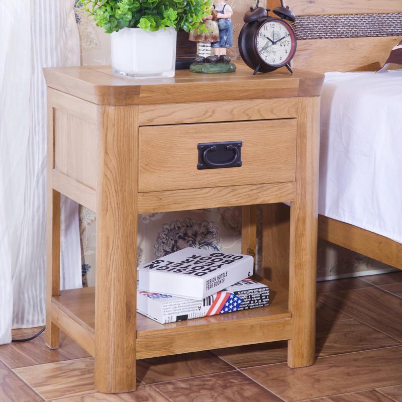 喜之林家具 zr124 欧式简约实木床头柜 橡木灯桌仿古色 仿古色 仿古色