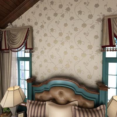 卧室客厅欧式田园墙纸