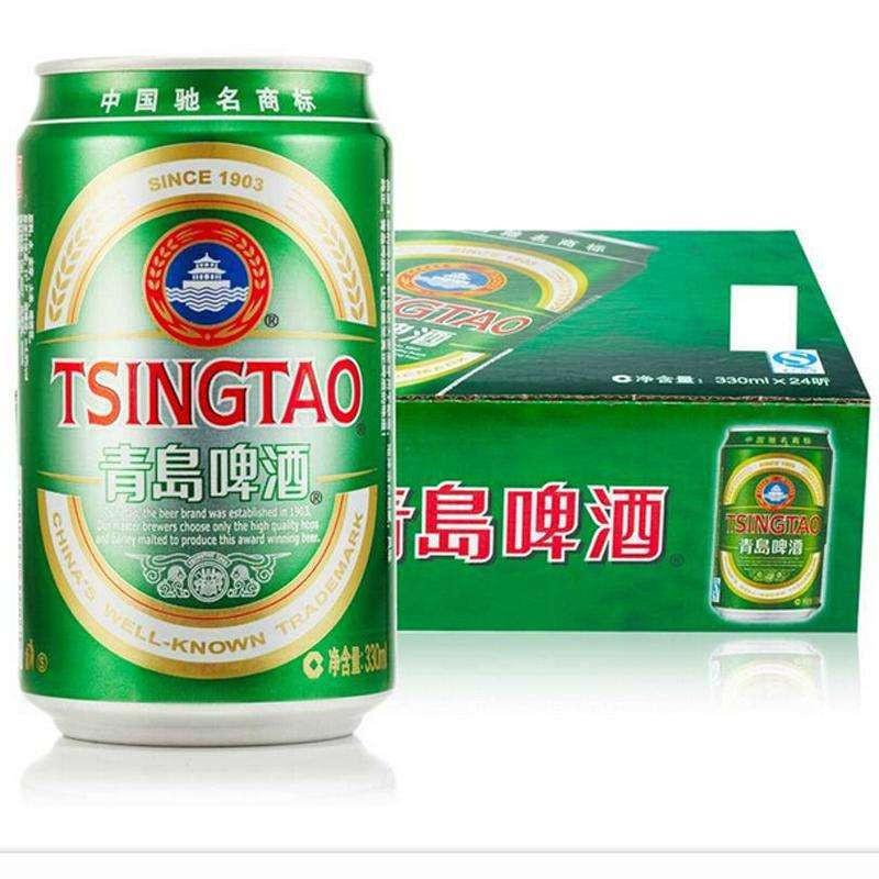 中酒网 青岛啤酒经典听装330ml*24瓶整箱装