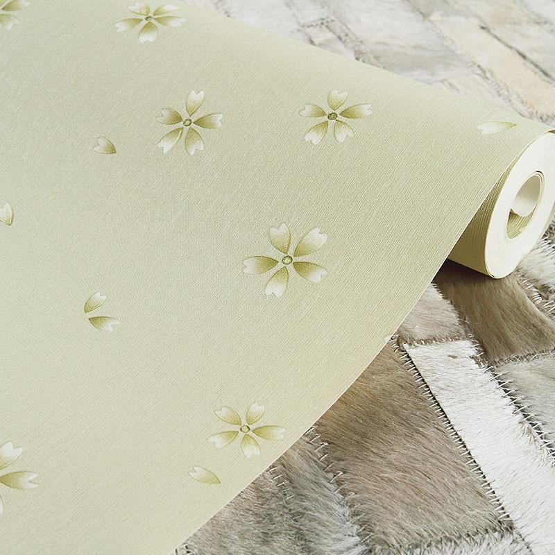 米素 欧式田园壁纸 温馨卧室背景墙壁纸 家装工程墙纸 彩蝶花坊