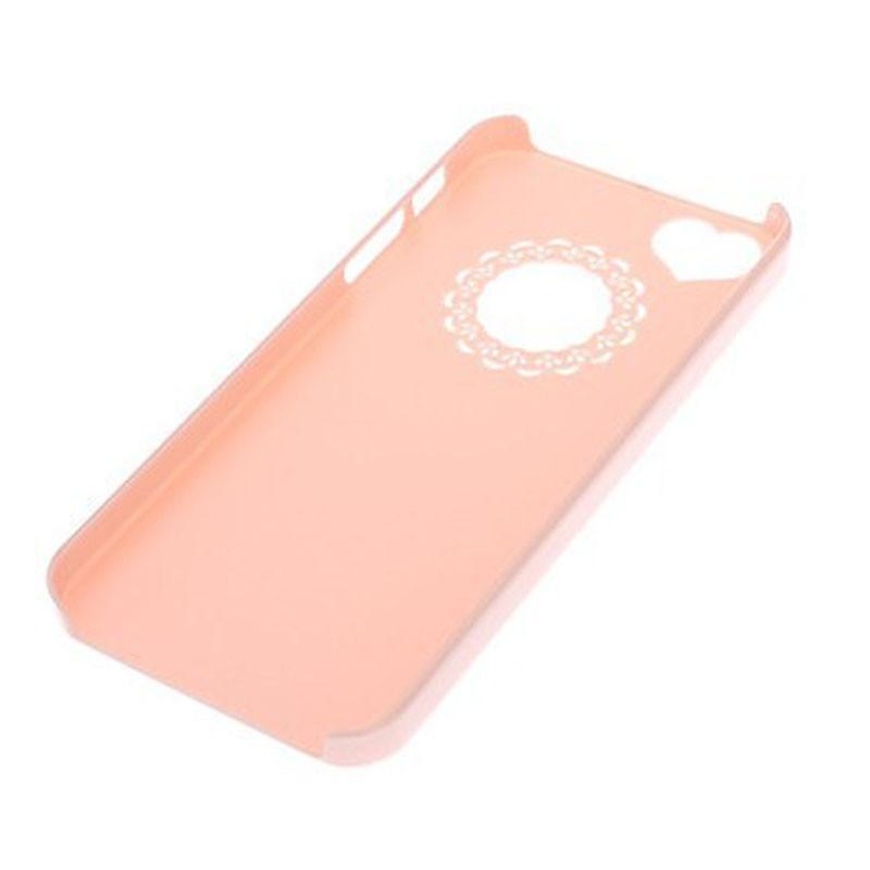 粉色蕾丝花边超薄手机壳