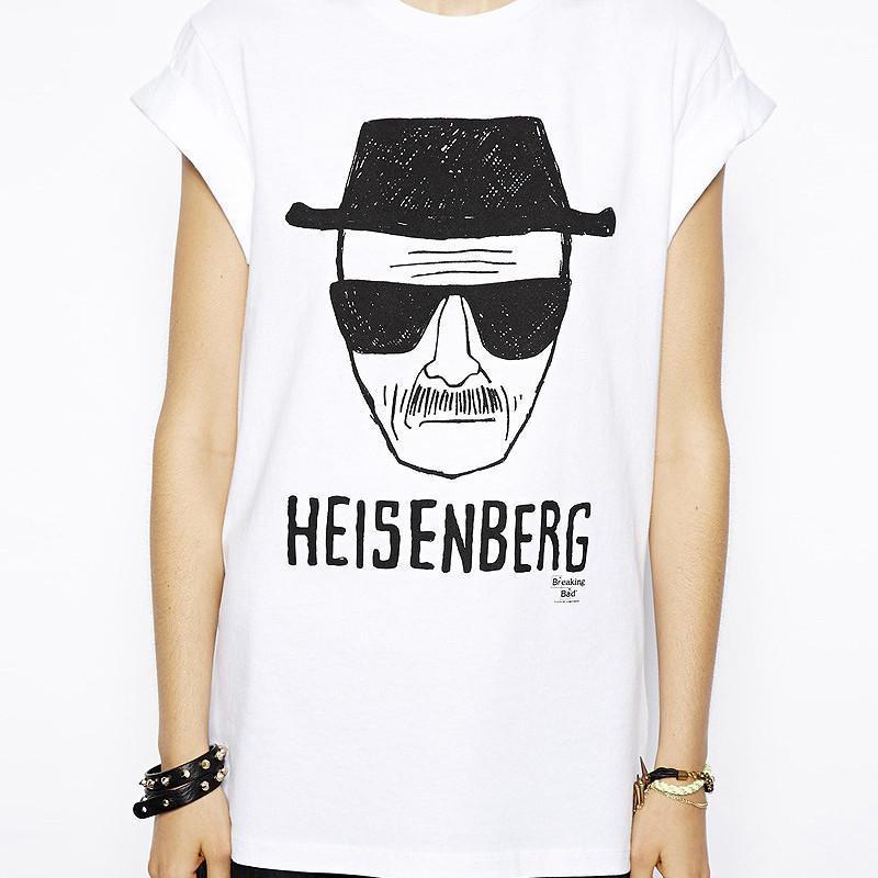 richcoco绝命毒师heisenberg手绘头像印花短袖圆领t恤