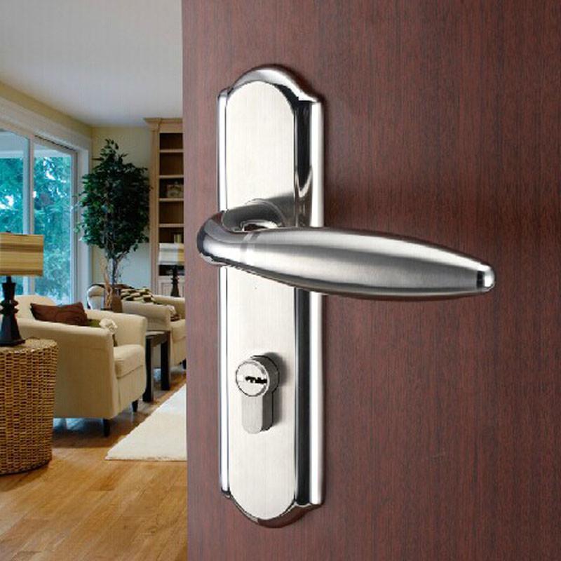 欧式简约室内门锁304不锈钢执手