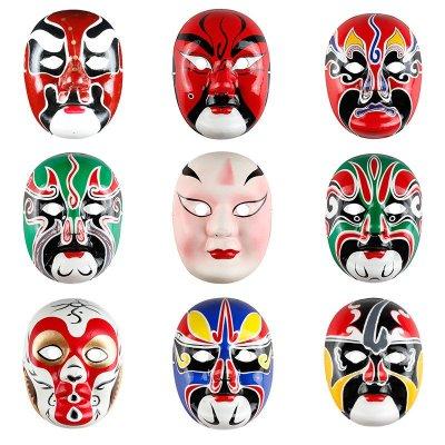 手绘面具 纸浆面具 中式面具
