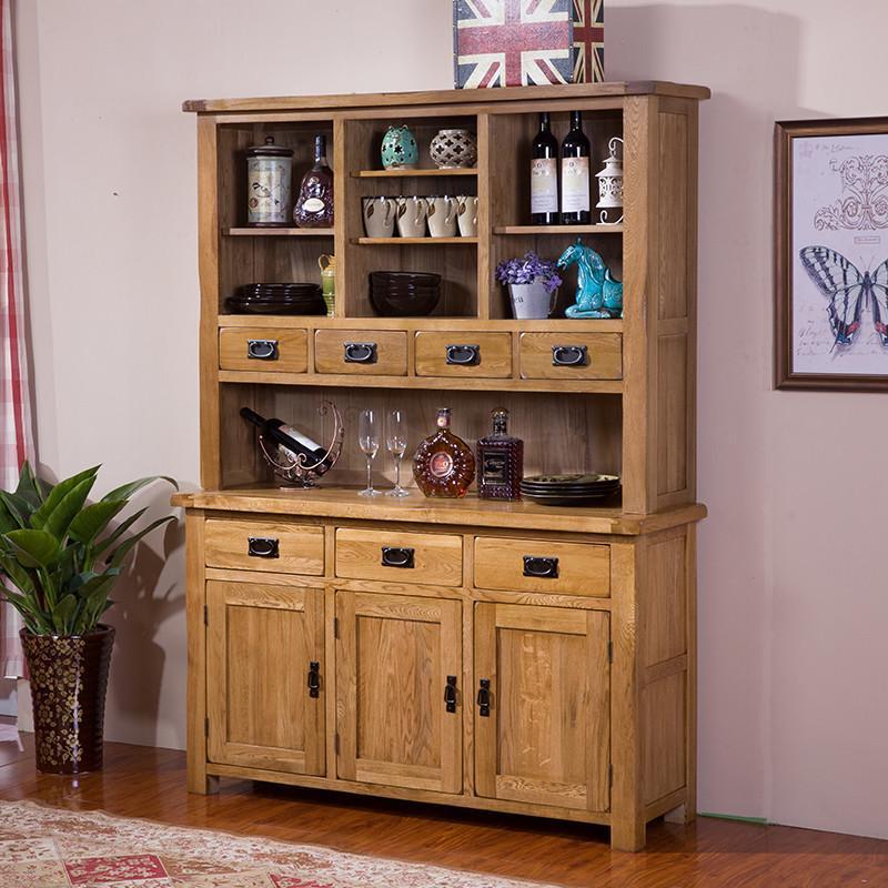 实木餐边柜 厨房储物柜碗橱柜微波炉柜收纳柜边柜