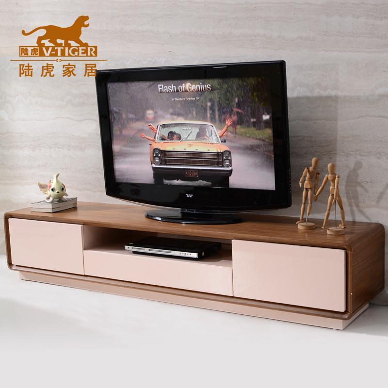 现代简约木纹工艺时尚客厅电视柜