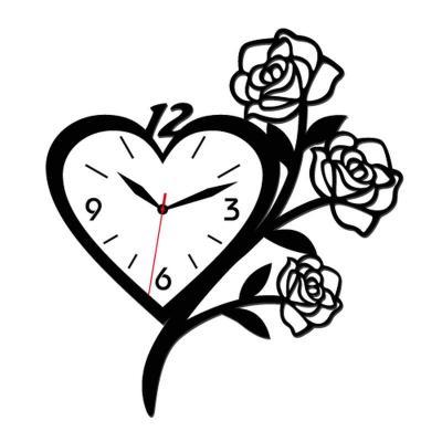 个性一百玫瑰花创意时钟edh0406创意挂钟客厅欧式钟表diy定做卧室图片