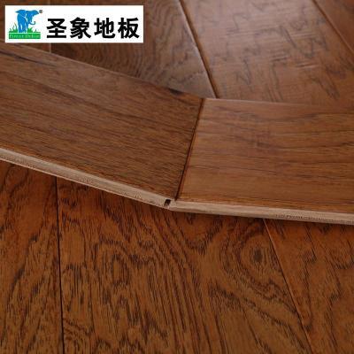 圣象多层实木复合木地板na3218秋之山核桃f4星高环保手刮仿古正品