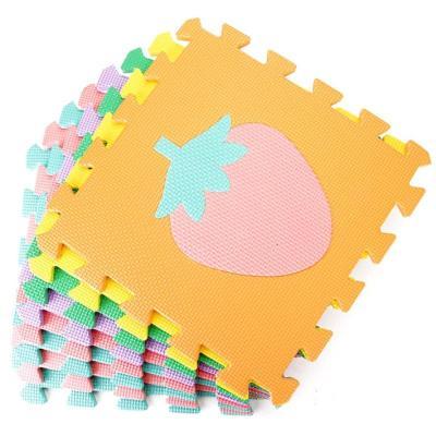 明德水果拼图爬行垫 eva泡沫拼接地垫儿童爬爬垫安全防护30*1.图片