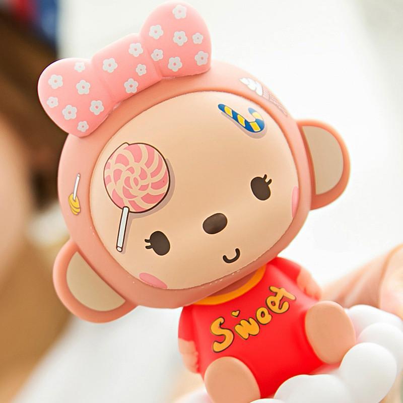 皇冠猴 汽车摆件车用摇头公仔娃娃 可爱单个装 coco糖果款升级版