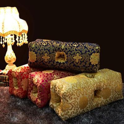 梦诗意 纯手工制作丝绸宫廷御用六孔耳枕 纯荞麦单人保健枕头 多功能