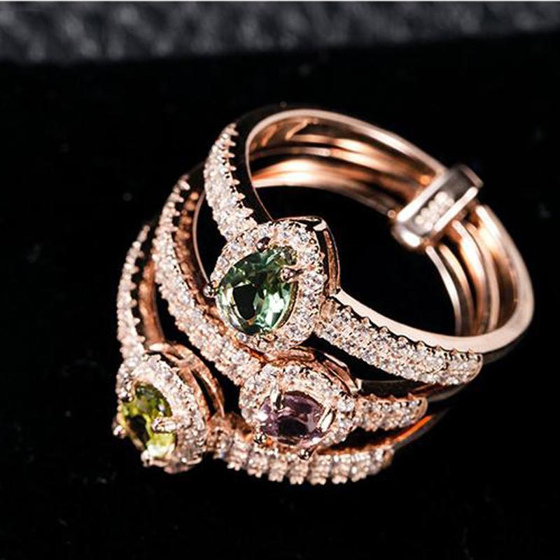 动物戒指三件套