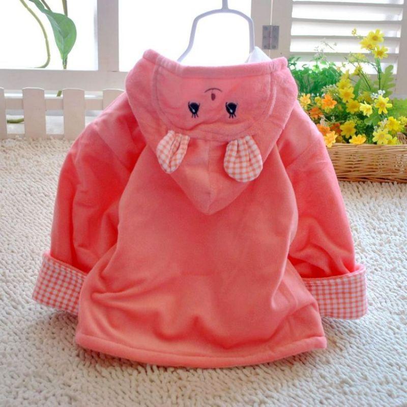 可爱宝宝婴幼儿超柔小兔背带裤套装 红色 100cm