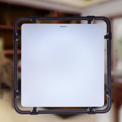 松下灯具中式方灯72w棕色边框客厅灯卧室