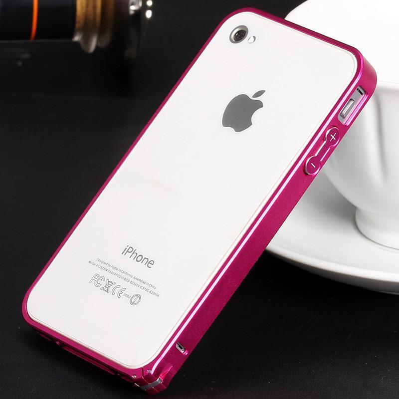 iphone4s手机边框 彩色保护框 苹果4s金属边框 手机壳 iphone4海马扣