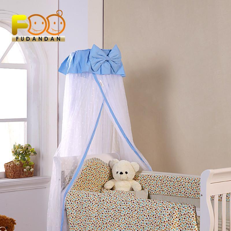 福蛋蛋 婴儿床宝宝床免安装落地式蚊帐 加密雪纺加厚支架