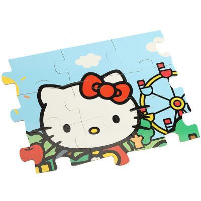 凯蒂猫(hello kitty)趣味拼图儿童益智填色画绘画拼图套装