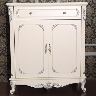 法丽莎家具g2简欧鞋柜新古典描银实木鞋柜简约欧式柜