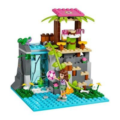 好朋友系列 女孩系列 41033 丛林瀑布救援乐高积木 女孩积木玩具
