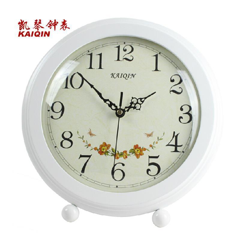 凯琴实木客厅田园座钟 静音艺术钟表 欧式创意时钟复古丽声石英钟