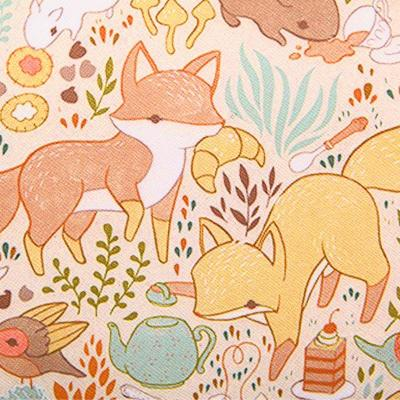 小象包袋 日系秋季田园拼接喷绘可爱动物手提单肩包时尚女包x1734