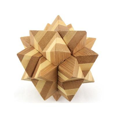 米米智玩 儿童木制孔明锁鲁班锁套装 成人智力拆装玩具 【竹制阿波罗