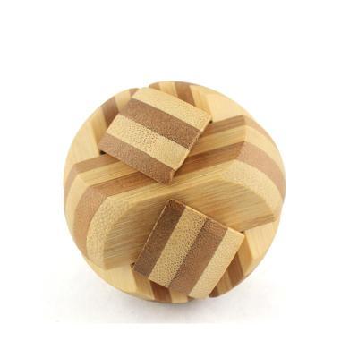 米米智玩 儿童木制孔明锁鲁班锁套装 成人智力拆装玩具【竹结神球】