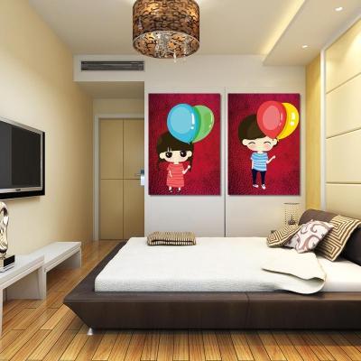 居家装饰画卡通情侣相亲相爱卧室壁画床头画客厅无框